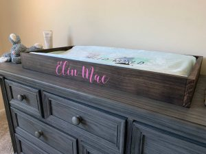 minimal baby changing table
