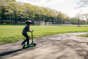 child scootering